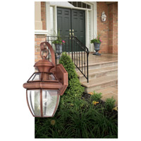 Quoizel Lighting Newbury 1 Light Outdoor Wall Lantern in Aged Copper NY8315AC