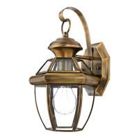 Quoizel Newbury 1 Light Outdoor Wall Lantern in Antique Brass NY8315AFL