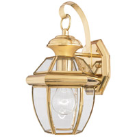 Newbury 1 Light 13 inch Polished Brass Outdoor Wall Lantern in Standard