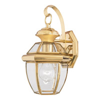 Quoizel Newbury 1 Light Outdoor Wall Lantern in Polished Brass NY8315BFL