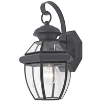 Quoizel Lighting Newbury 1 Light Outdoor Wall Lantern in Mystic Black NY8315K