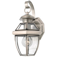 Newbury 1 Light 13 inch Pewter Outdoor Wall Lantern