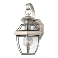 Quoizel Newbury 1 Light Outdoor Wall Lantern in Pewter NY8315PFL