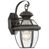 Quoizel NY8315Z Newbury 1 Light 13 inch Medici Bronze Outdoor Wall Lantern in Standard photo thumbnail