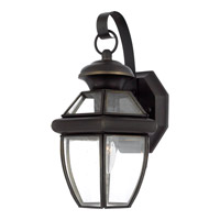 Quoizel Newbury 1 Light Outdoor Wall Lantern in Medici Bronze NY8315ZFL