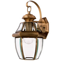 Newbury 1 Light 14 inch Antique Brass Outdoor Wall Lantern in Standard