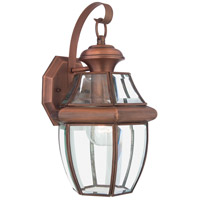 Quoizel Lighting Newbury 1 Light Outdoor Wall Lantern in Aged Copper NY8316AC