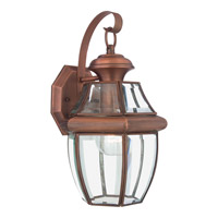 Quoizel Newbury 1 Light Outdoor Wall Lantern in Aged Copper NY8316ACFL