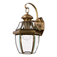 Quoizel Newbury 1 Light Outdoor Wall Lantern in Antique Brass NY8316AFL