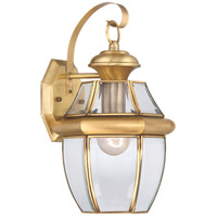 Newbury 1 Light 14 inch Polished Brass Outdoor Wall Lantern in Standard