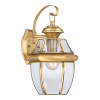 Quoizel Newbury 1 Light Outdoor Wall Lantern in Polished Brass NY8316BFL