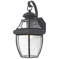 Newbury 1 Light 14 inch Mystic Black Outdoor Wall Lantern