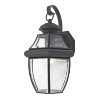 Quoizel Newbury 1 Light Outdoor Wall Lantern in Mystic Black NY8316KFL