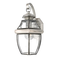 Quoizel Newbury 1 Light Outdoor Wall Lantern in Pewter NY8316PFL
