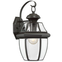 Newbury 1 Light 14 inch Medici Bronze Outdoor Wall Lantern in Standard