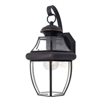 Quoizel Newbury 1 Light Outdoor Wall Lantern in Medici Bronze NY8316ZFL