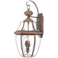 Quoizel Lighting Newbury 2 Light Outdoor Wall Lantern in Aged Copper NY8317AC