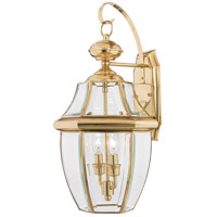 Newbury 2 Light 20 inch Polished Brass Outdoor Wall Lantern