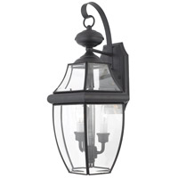 Quoizel Lighting Newbury 2 Light Outdoor Wall Lantern in Mystic Black NY8317K