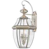 Quoizel Lighting Newbury 2 Light Outdoor Wall Lantern in Pewter NY8317P