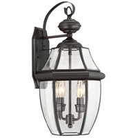Quoizel Lighting Newbury 2 Light Outdoor Wall Lantern in Medici Bronze NY8317Z