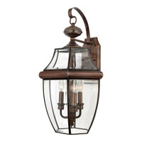 Quoizel NY8318AC Newbury 3 Light 23 inch Aged Copper Outdoor Wall Lantern  alternative photo thumbnail