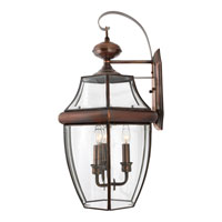 Quoizel Lighting Newbury 3 Light Outdoor Wall Lantern in Antique Brass NY8318A alternative photo thumbnail