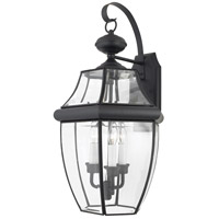 Quoizel Lighting Newbury 3 Light Outdoor Wall Lantern in Mystic Black NY8318K