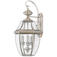 Quoizel Lighting Newbury 3 Light Outdoor Wall Lantern in Pewter NY8318P