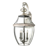 Quoizel Lighting Newbury 3 Light Outdoor Wall Lantern in Pewter NY8318P alternative photo thumbnail