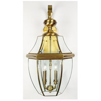 Quoizel Lighting Newbury 4 Light Outdoor Wall Lantern in Antique Brass NY8339A