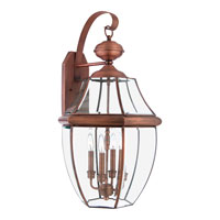 Quoizel NY8339AC Newbury 4 Light 29 inch Aged Copper Outdoor Wall Lantern alternative photo thumbnail