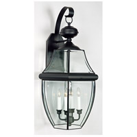 Newbury 4 Light 29 inch Mystic Black Outdoor Wall Lantern