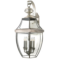 Newbury 4 Light 29 inch Pewter Outdoor Wall Lantern