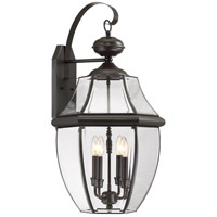 Quoizel Lighting Newbury 4 Light Outdoor Wall Lantern in Medici Bronze NY8339Z