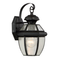 Quoizel Newbury 1 Light Outdoor Wall Lantern in Mystic Black NY8407K