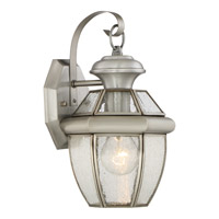 Quoizel Newbury 1 Light Outdoor Wall Lantern in Pewter NY8407PFL