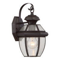 Quoizel Newbury 1 Light Outdoor Wall Lantern in Medici Bronze NY8407ZFL