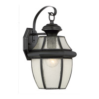 Quoizel Newbury 1 Light Outdoor Wall Lantern in Mystic Black NY8409K