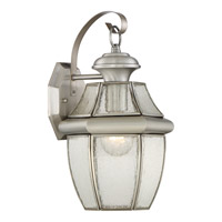 Newbury 1 Light 14 inch Pewter Outdoor Wall Lantern in Standard
