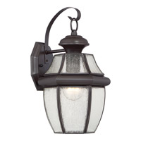 Quoizel Newbury 1 Light Outdoor Wall Lantern in Medici Bronze NY8409Z