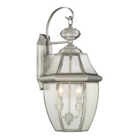 Quoizel Newbury 2 Light Outdoor Wall Lantern in Pewter NY8411P
