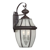 Quoizel Newbury 2 Light Outdoor Wall Lantern in Medici Bronze NY8411Z
