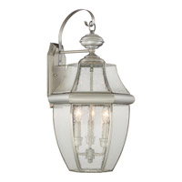 Newbury 3 Light 23 inch Pewter Outdoor Wall Lantern