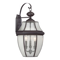 Quoizel Newbury 3 Light Outdoor Wall Lantern in Medici Bronze NY8412Z