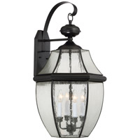 Quoizel Newbury 4 Light Outdoor Wall Lantern in Mystic Black NY8416K