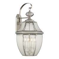 Quoizel Newbury 4 Light Outdoor Wall Lantern in Pewter NY8416P