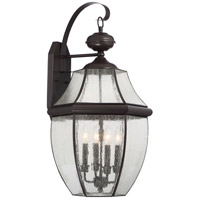 Quoizel Newbury 4 Light Outdoor Wall Lantern in Medici Bronze NY8416Z