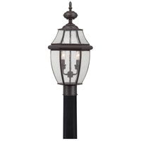 Quoizel Newbury 2 Light Outdoor Post Lantern in Medici Bronze NY9011Z