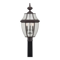 Newbury 3 Light 23 inch Medici Bronze Outdoor Post Lantern